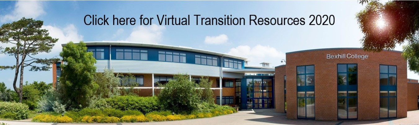 Bexhill College Image with link to Transition Resources 2020